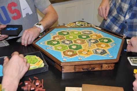 Custom Made Settlers Of Catan Storage And Game Board