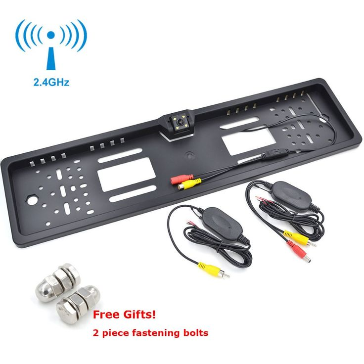 Wireless EU Number Plate Frame Reverse Camera with LED Light Night Vison Cam Free Gifts * Detailed information can be found by clicking on the VISIT button
