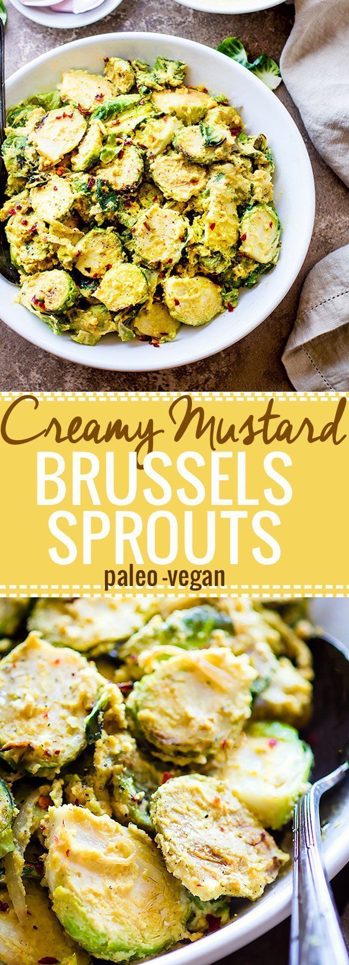 Sauteed Brussels Sprouts Salad with Creamy Mustard Sauce