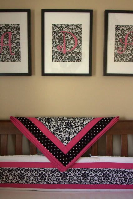 Pink & Black Damask Nursery