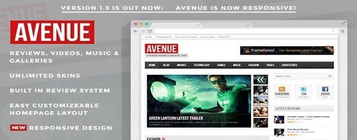 Download Avenue – Magazine Theme for WordPress v1.3
