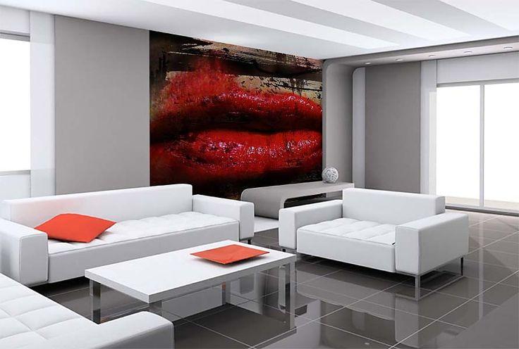Fototapeta - Červené rty 412 | Červené foto tapety - Energie a smyslnost | TAPETYMIX