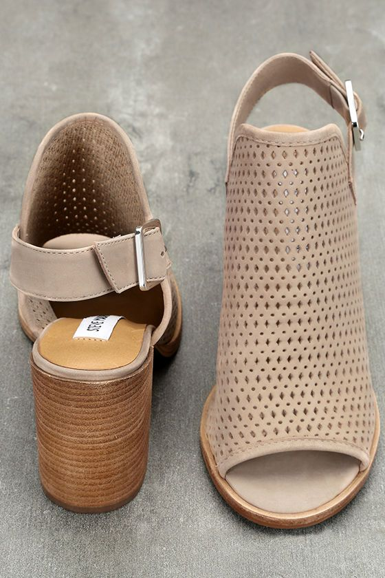 Let your inner goddess shine through in the Steve Madden Neptune Ice Taupe  Nubuck Leather Cutout