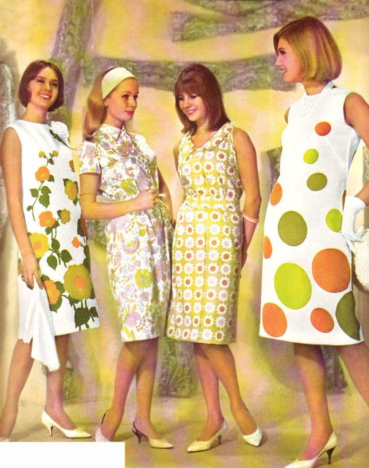Fashion for mom's of the sixties. Looks in style for today actually. Things always come back around.