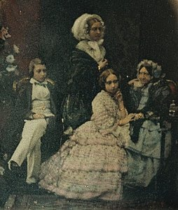 Albert Edward, Prince of Wales, Queen Victoria, Princess Alice, Mary, Duchess of Gloucester (last surviving child of George III)