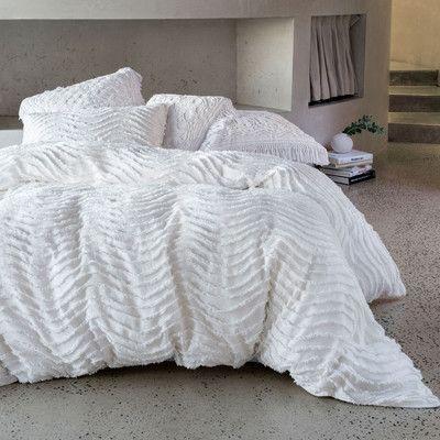 Drift White Quilt Cover Set