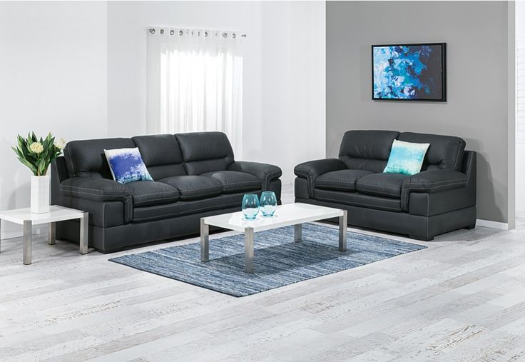 Fontana Fabric Sofa Pair | Super Amart