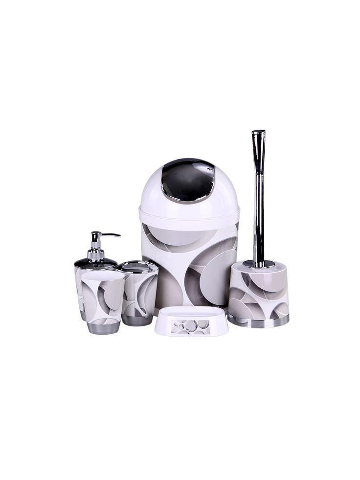 Patricia Набор для ванны 6 предметов: дозатор,подставка под зубные щетки,стакан,мыльница,ершик, ведро