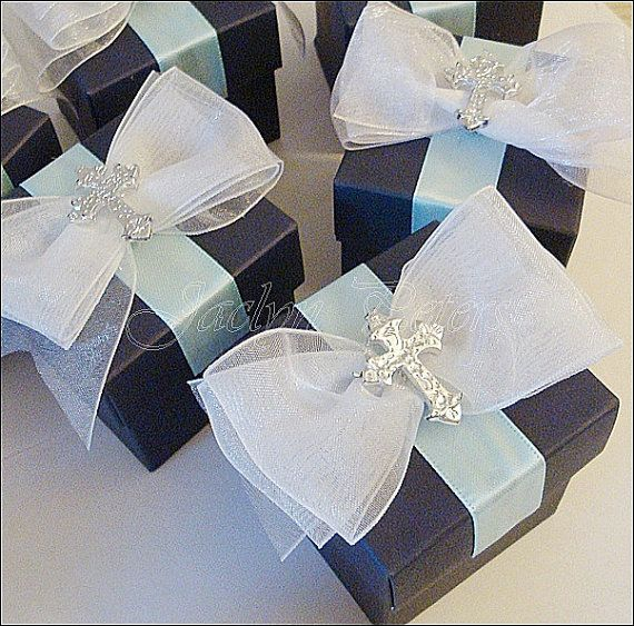 Designed by special request #FavorBox #Baptism Or Communion Boys #Navy by JaclynPetersDesigns