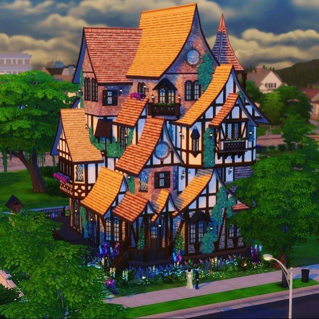 New fav build #inspired by The Weasley's 'Burrow' #HarryPotter @thesims