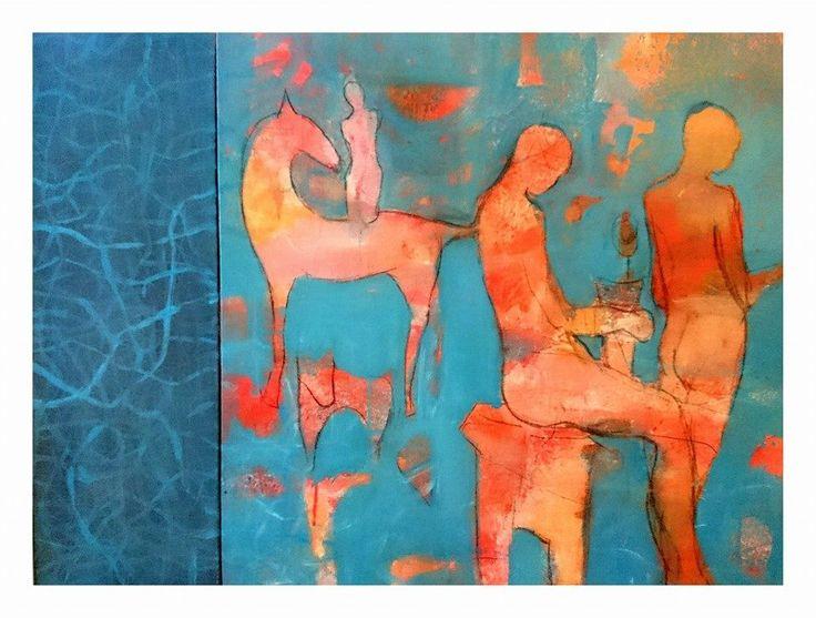 Acryl on canvas  Liv Sørvaag