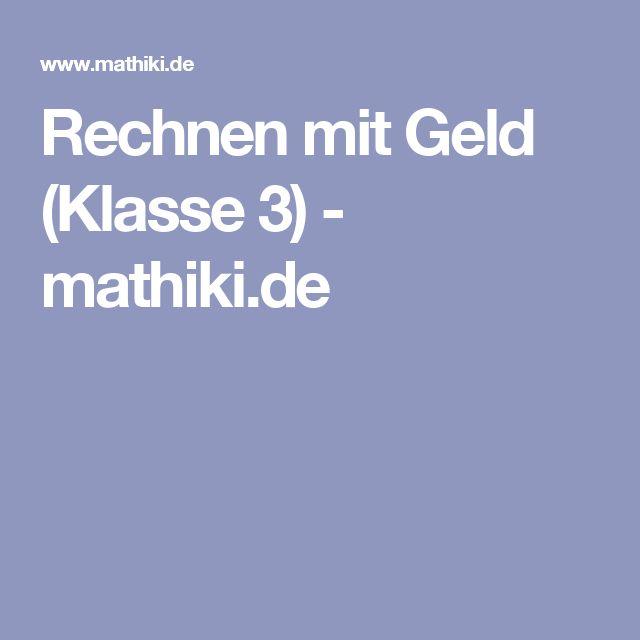 Rechnen mit Geld (Klasse 3) - mathiki.de