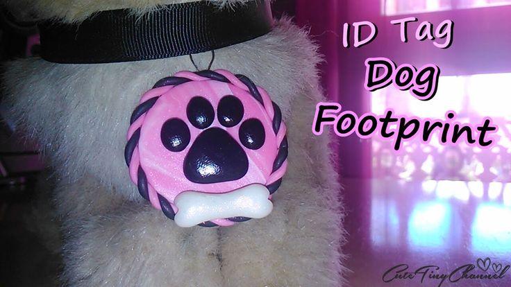 ID Tag Pendant Dog Footprint Polymer Clay Tutorial / Colgante Huella de ...