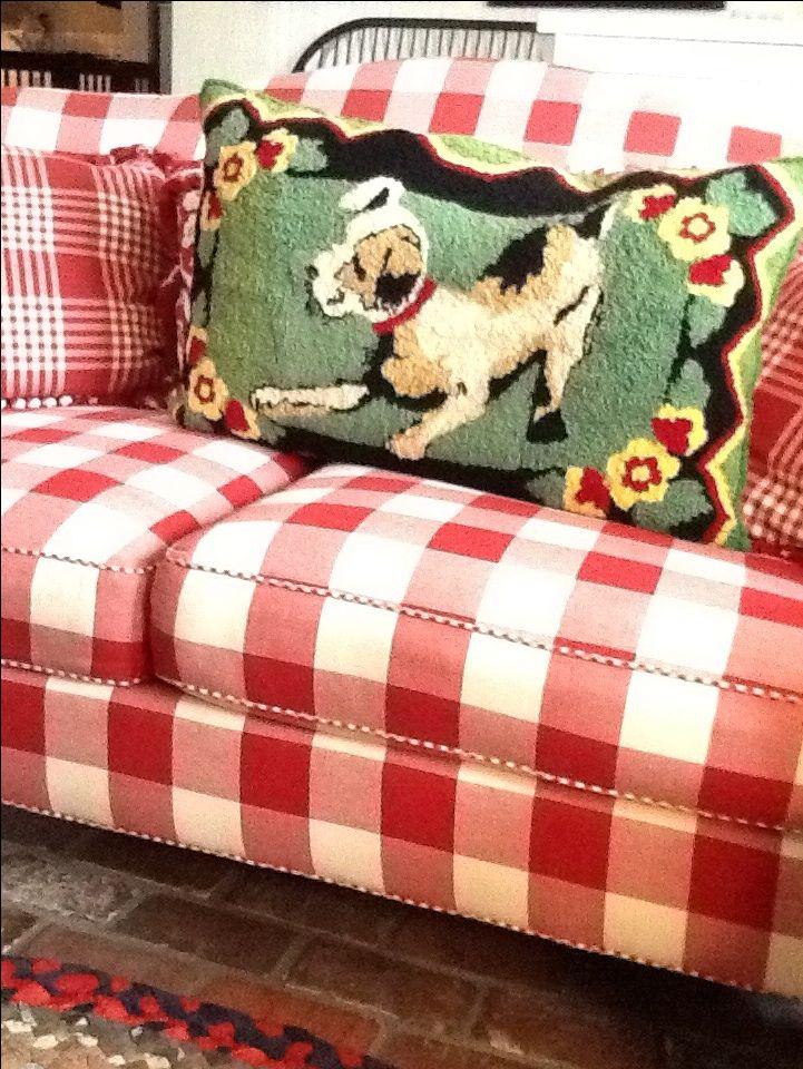 Buffalo Check Sofa~Love the Pillow!