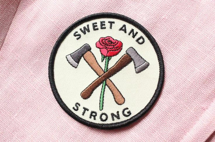 Who said you couldn't be sweet AND strong? 3 inch iron on patch! Shipping comes without a tracking number unless you choose First Class Mail at checkout! Designed by Grace Taylor