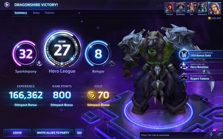 heroes of the storm ui - Google Search