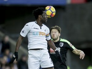"Swansea City's Wilfried Bony ""pleased to be back scoring"" following drought"