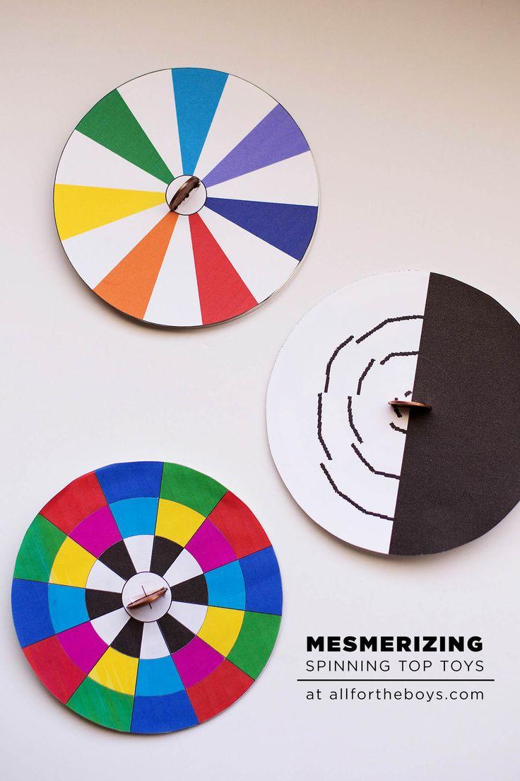 DIY spinning top optical illusion toys