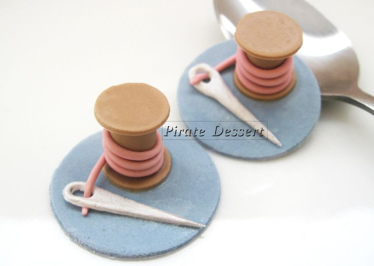 Edible+CINDERELLA+Cupcake+toppers+NEEDLE+And+by+PirateDessert,+$12.00