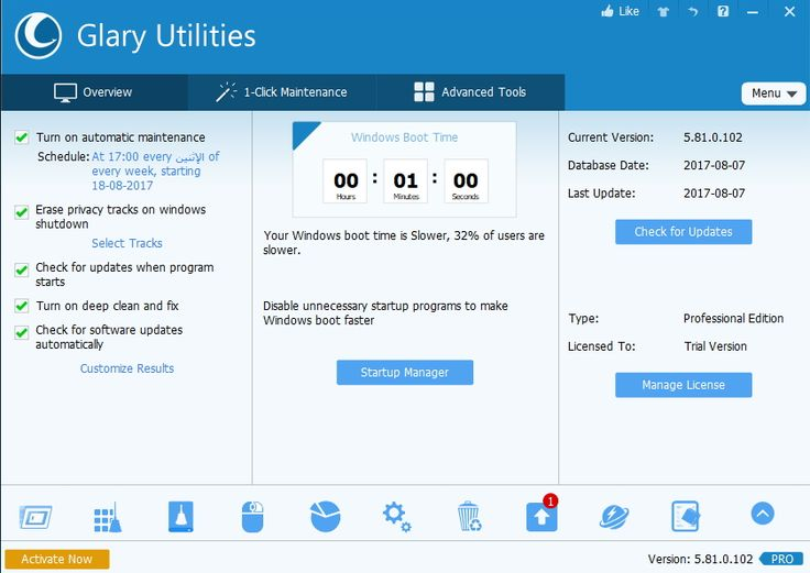 Glary Utilities Pro 5.81.0.102 Multilingual   You can access all these tools through the basic program interface in an easy and simplified ...