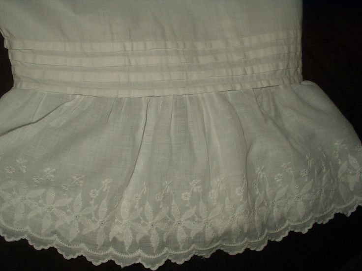 Antique Victorian Split Drawer Bloomers Edwardian Pantaloons Embroidery Ruffle 55.00 - The Gatherings Antique Vintage