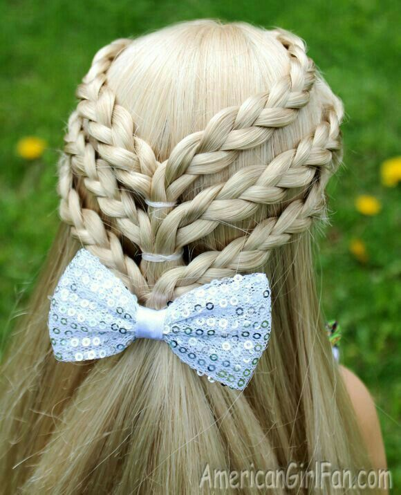 3 braids and a bow.