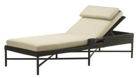 Buy Thomas Pheasant Outdoor Single Chaise  by McGuire Furniture - Quick Ship designer Furniture from Dering Hall's collection of Mid-Century / Modern Transitional Chaise Lounges