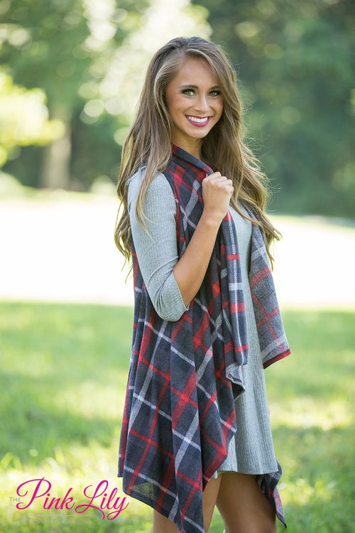 You're going to love wearing this beautiful and super comfortable plaid vest all season long!