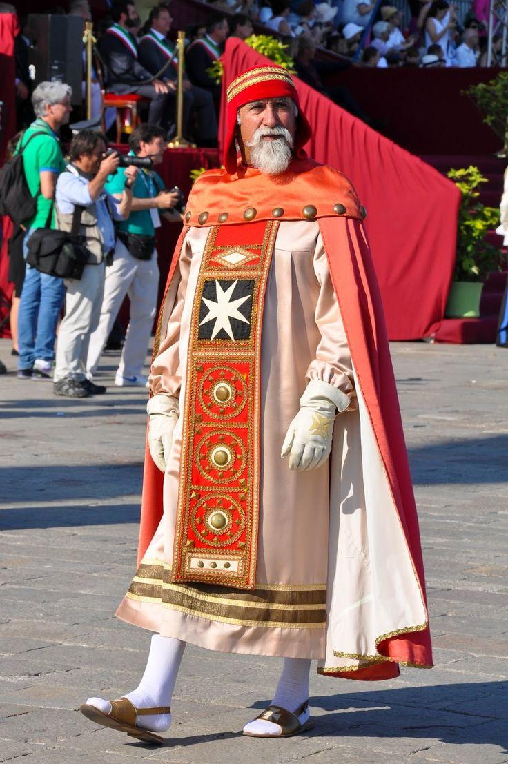 A representative of Amalfi, Historical Parade, Regatta of the Ancient Maritime Republics, Venice, Italy
