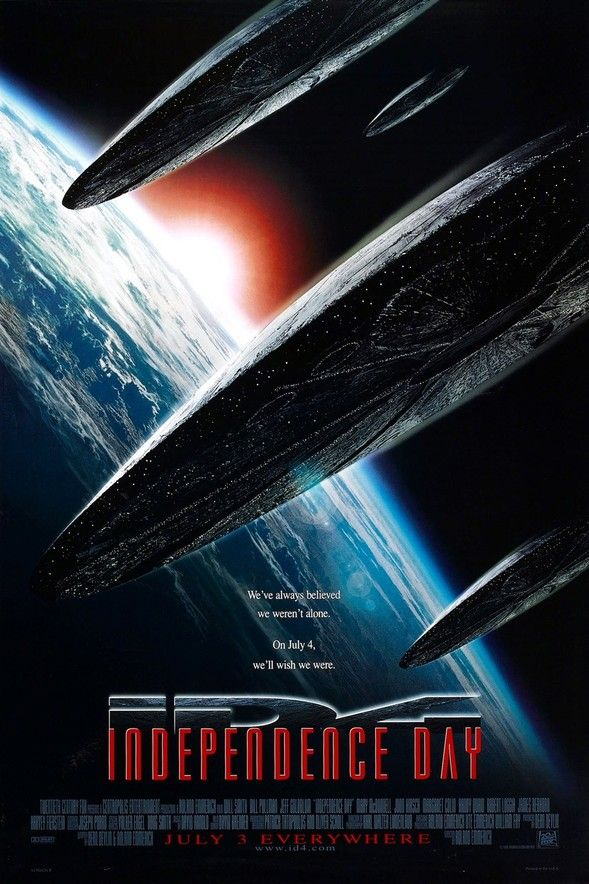 1996 Sci Fi Action Film starring Will Smith, Bill Pullman, and Jeff Goldblum                                                                                                                                                                                 More