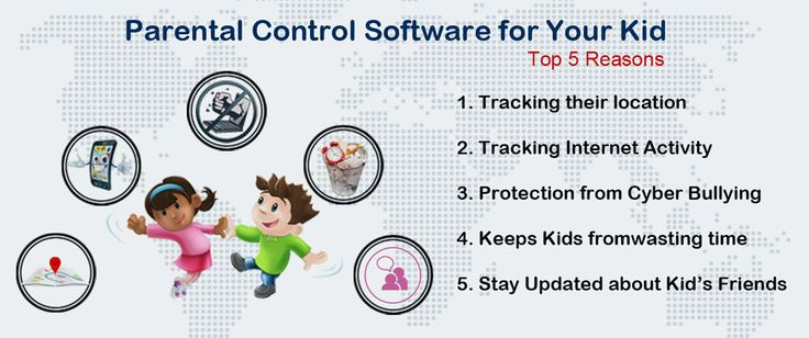 Top 5 Reasons You Need a Parental Control Software for Your Kid:  1. Tracking their location  2. Tracking Internet Activity  3. Protection from Cyber Bullying  4. Keeps Kids fromwasting time  5. Stay Updated about Kid's Friends