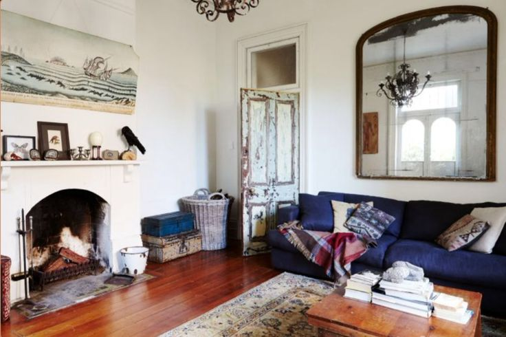 """This living room is from our feature """"Fantastic Eclectic"""""""