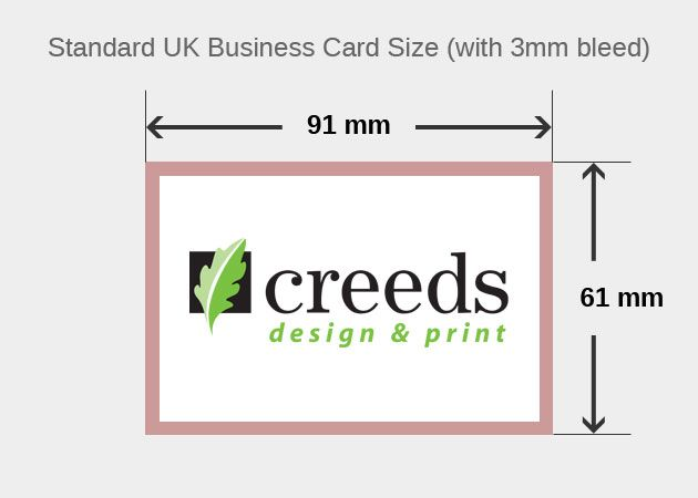 8 best business card size images on pinterest carte de visite standard uk business card size with bleed colourmoves Images
