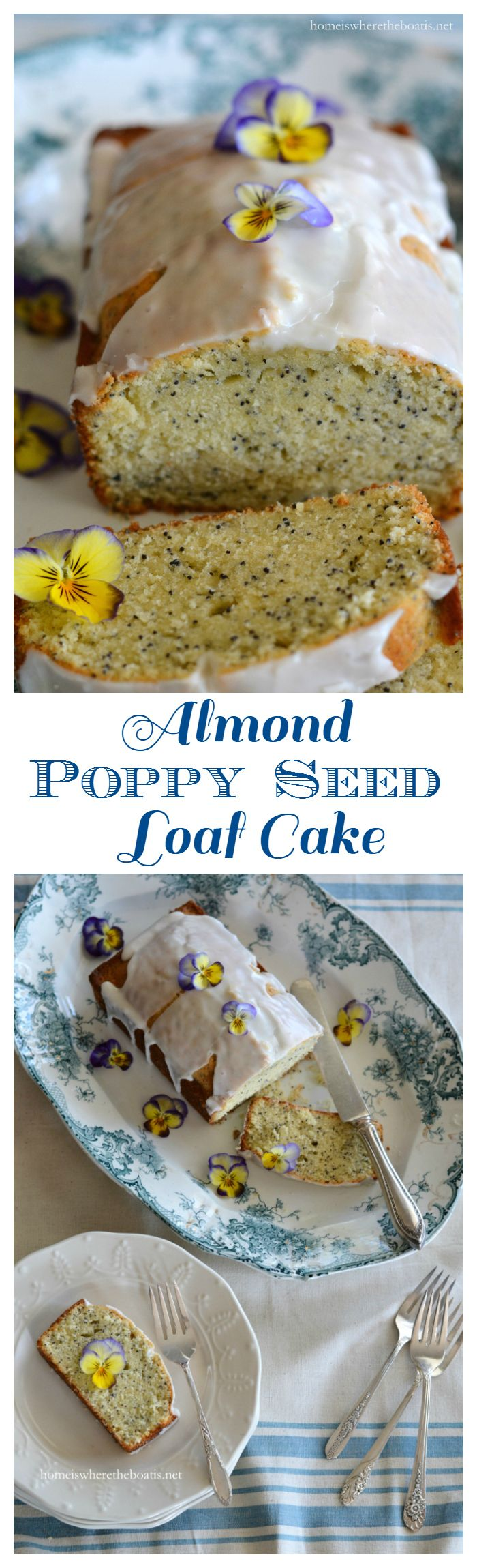 Almond Poppy Seed Loaf Cake from Home Is Where The Boat Is