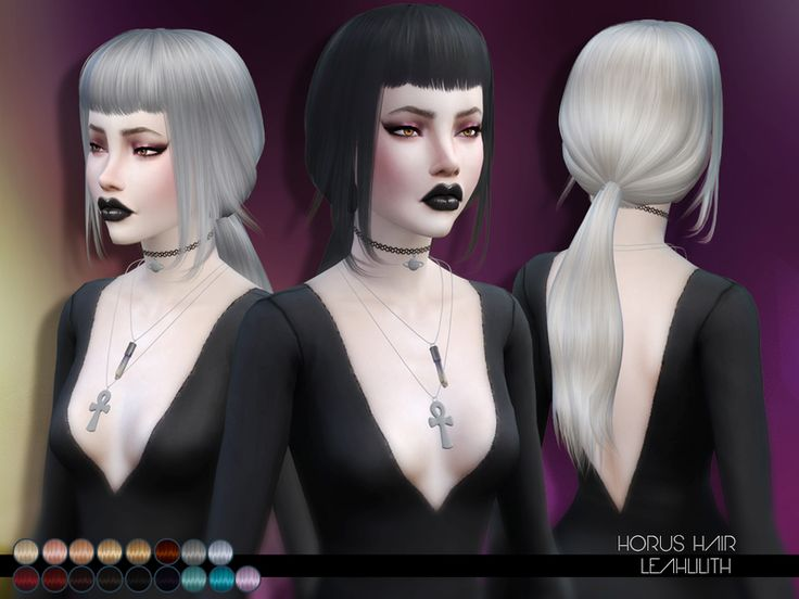 Horus Hair Found in TSR Category 'Sims 4 Female Hairstyles'