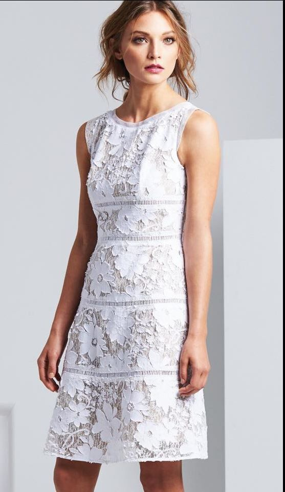 6bc402520974 White Lace Dress by Moss and Spy SS 2016 Collection.  springracing   melbournecup