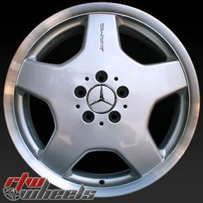 "Mercedes S500 wheels for sale 2000-2002. 18"" AMG Silver Machined Lip rims 65206 - http://www.rtwwheels.com/store/shop/mercedes-s500-wheels-for-sale-18-amg-silver-machined-lip-65206/"