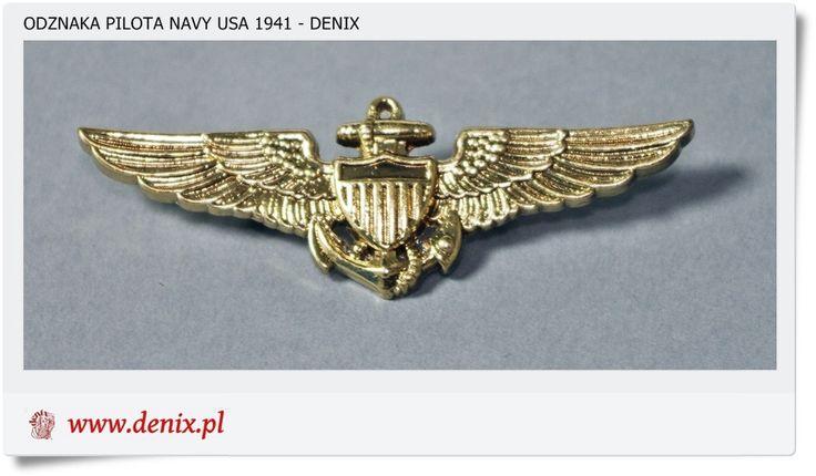 Wojskowa odznaka PILOTA NAVY USA - 1941 r. Denix 151