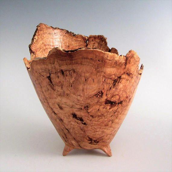 Cherry Burl Wood Bowl - Wood Bowl - Wood Turned Bowl - Artistic Bowl - Wooden Bowl - Wood Turning Bowl - Wedding Gift -Wood Centerpiece Bowl
