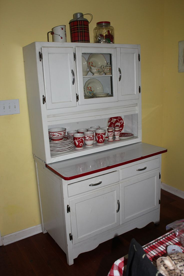 My Hoosier Cabinet, Early Birthday Present, In Its New Home   My Kitchen! I  Just House Shopped To Decorate It Now   Itu0027ll Look Better Later, But I LOVE  It!