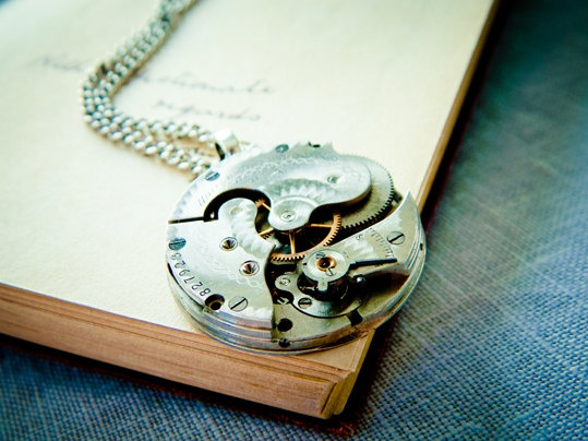 Steampunk Necklace - Antique United States Watch Company Movement 1857 - Spring Sale. $60.00, via Etsy.