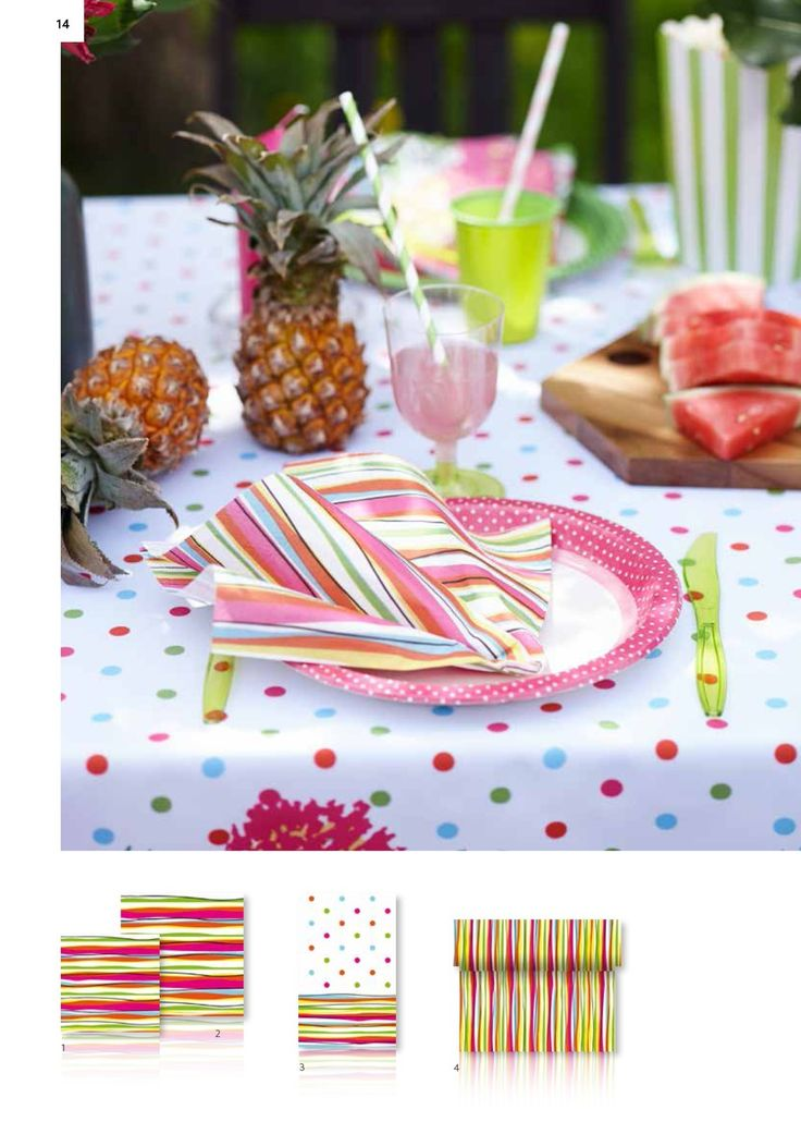 Dunin Summer ecstasy Felicia-paperiservetit via http://catalogues.duni.com/International/2016/Consumer2016/