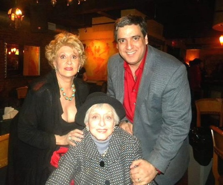 Sandy with Celeste Holm and Frank Basile at our shoot...Iguana Dana Lorge show