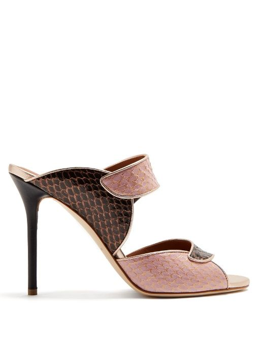 58adc0592 Malone Souliers Olivia snakeskin mules