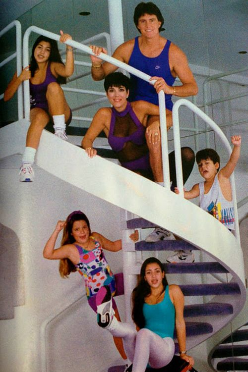 No words to say about this one. I mean this had to have been taken deep in the 80s. Looks like they were in the middle of doing Jane Fonda workouts!