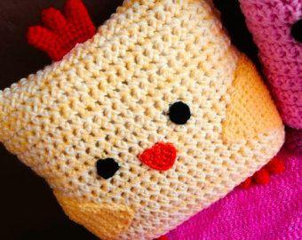 Bébé poussin ferme pépinière oreiller, oreiller de poulet, coq oreiller Animal oreiller, oreiller de ferme de pépinière, au Crochet, animaux oreiller