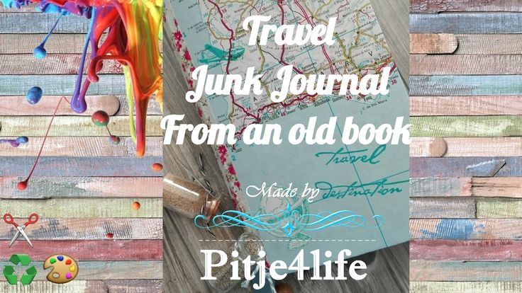 Flip trough my Travel junk journal, made out of an old upcycled book. #diyjournal #junkjournal #traveljournal #mixedmedia