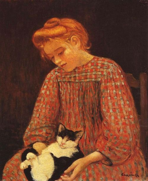 La fille au chat, Charles Camoin
