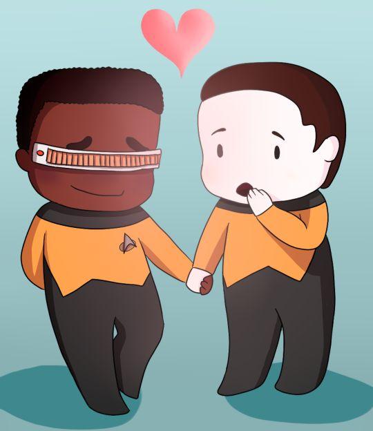 Star Trek TNG - Data x Geordi LaForge - DaForge | Data ...