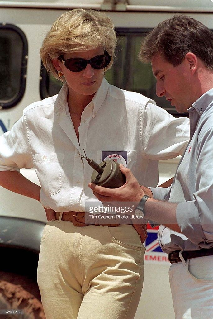 January 15, 1997: Diana, Princess of Wales in Luanda, Angola.